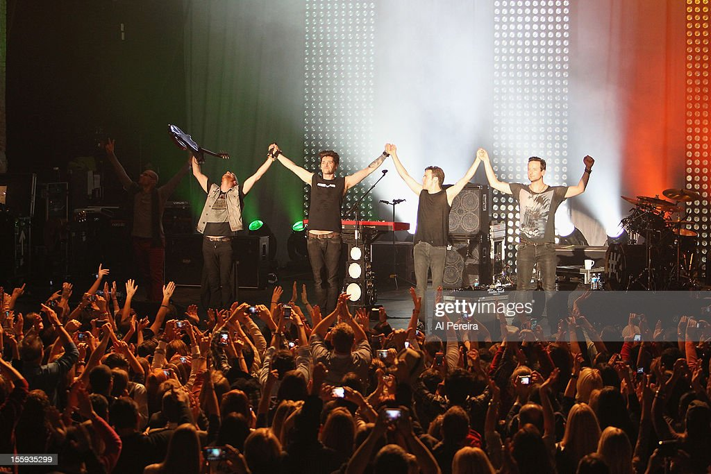 Danny O'Donoghue and The Script perform the Strong Island Hurricane Sandy Relief Concert at The Paramount on November 8 2012 in Huntington New York