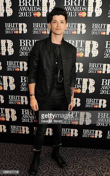 Danny O'Donoghue attends the BRIT Awards nominations announcement at The Savoy Hotel on January 10 2013 in London England