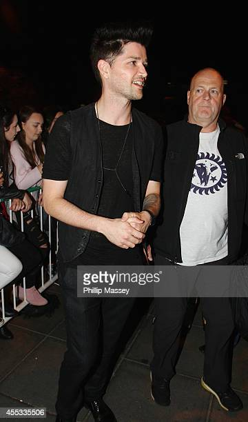 Danny O'Donoghue from The Script appears on the Late Late Show on September 12 2014 in Dublin Ireland