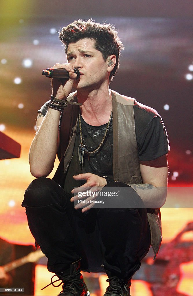 Danny O'Donoghue from The Script performs at the Cheerios Childline concert at 02 on November 24, 2012 in Dublin, Ireland.