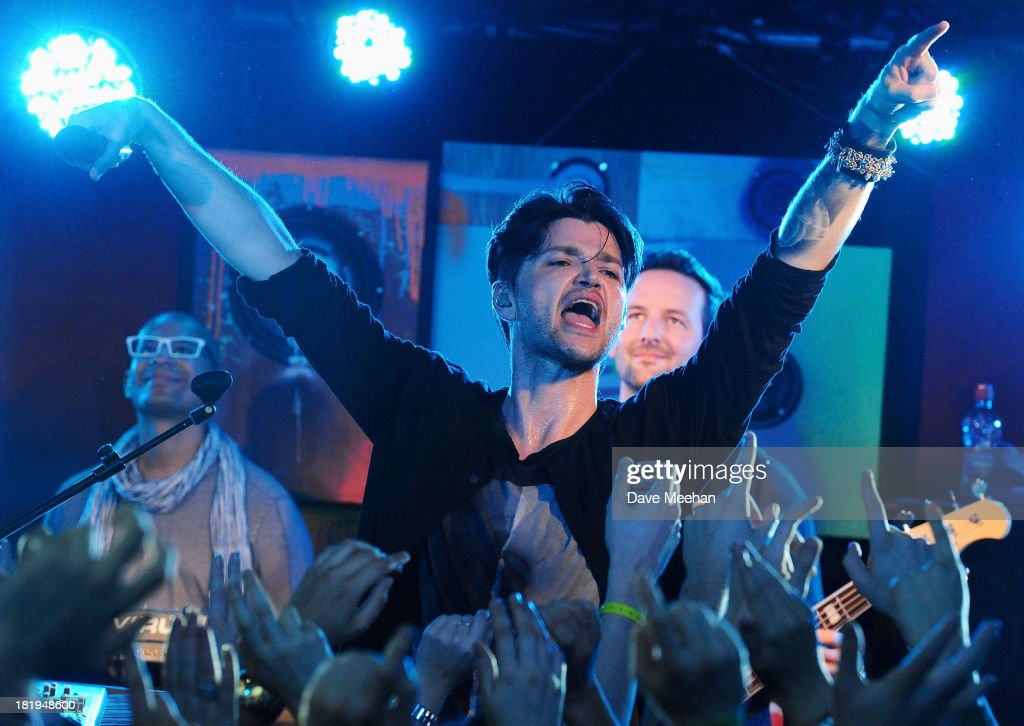 Danny O'Donoghue from The Script performs at Whelan's as part of the fifth annual Arthur's Day celebrations on September 26, 2013 in Dublin, Ireland. Arthur's Day sees fans come together to experience live music and cultural events in over 500 pubs around Ireland. This year Arthur's Day will spread beyond music to support, promote and showcase Ireland's innovators, artists, poets, writers and culinary experts. It promises to be an extraordinary night, featuring performances from hundreds of home grown acts, rising stars and other internationally renowned artists such as, The Script, James Vincent McMorrow, The Original Rudeboys, Girl Band, Bouts, Le Galaxie, Ham Sandwich, Daley, Manic Street Preachers, Emeli Sande, Janelle Monae, Biffy Clyro, Kodaline, Iggy Azalea and the legendary Bobby Womack. For more information visit www.guinness.com or www.facebook.com/Guinnessireland