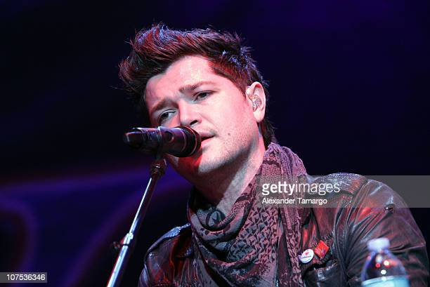 Danny O'Donoghue of the band The Script performs during the Y100 Jingle Ball at BankAtlantic Center on December 11 2010 in Sunrise Florida