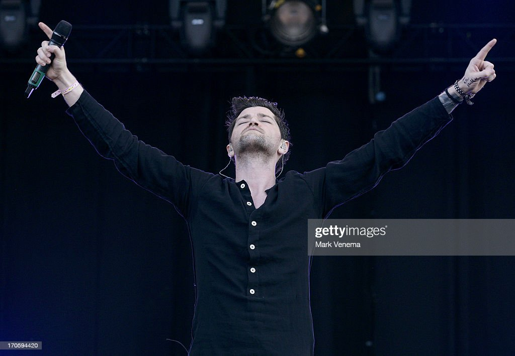 <a gi-track='captionPersonalityLinkClicked' href=/galleries/search?phrase=Danny+O%27Donoghue&family=editorial&specificpeople=5598563 ng-click='$event.stopPropagation()'>Danny O'Donoghue</a> of The Script performs at Day 1 of Pinkpop at Megaland on June 14, 2013 in Landgraaf, Netherlands.