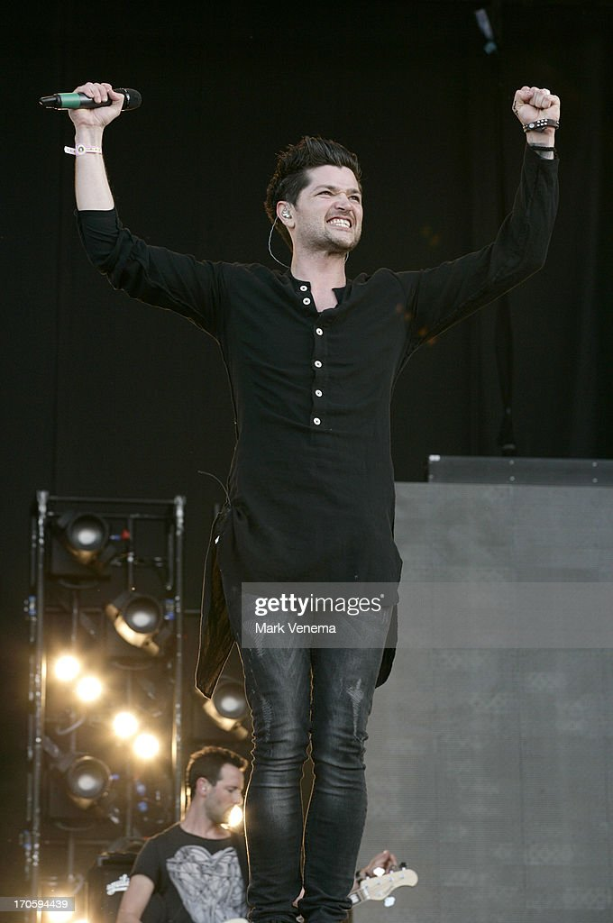 Danny O'Donoghue of The Script performs at Day 1 of Pinkpop at Megaland on June 14, 2013 in Landgraaf, Netherlands.