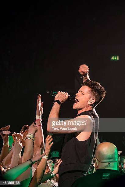 Danny O'Donoghue of The Script performs at Genting Arena on February 26 2015 in Birmingham England