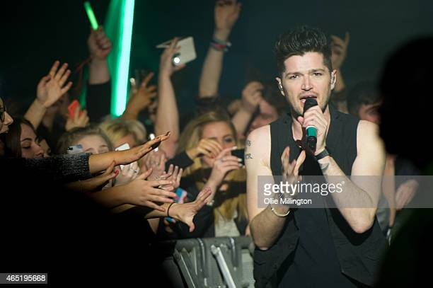 Danny O'Donoghue of The Script performs at Nottingham Capital FM Arena on March 3 2015 in Nottingham England