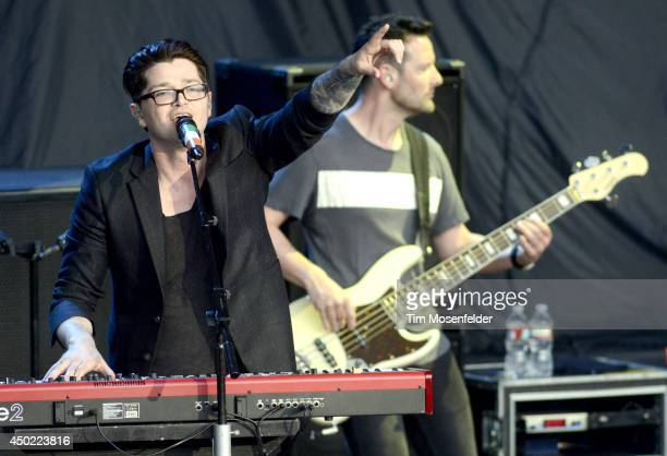 Danny O'Donoghue of The Script performs at Shoreline Amphitheatre on June 6 2014 in Mountain View California
