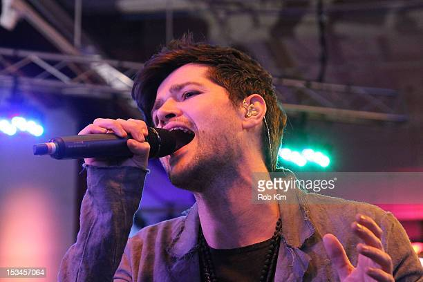 Danny O'Donoghue of The Script performs at the MLB Fan Cave on October 5 2012 in New York City