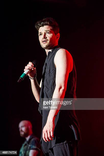 Danny O'Donoghue of The Script performs in concert at Sant Jordi Club on March 30 2015 in Barcelona Spain