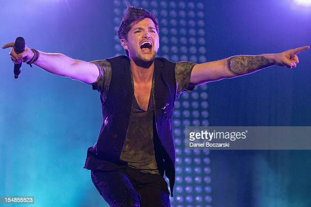 Danny O'Donoghue of The Script performs on stage at Aragon Ballroom on October 27 2012 in Chicago Illinois