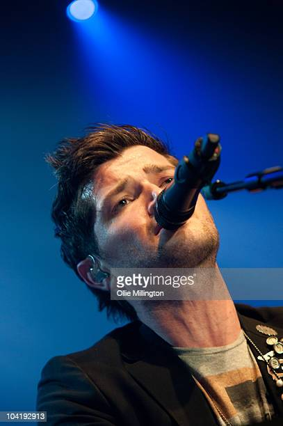 Danny O'Donoghue of The Script performs on stage at De Montfort Hall And Gardens on September 16 2010 in Leicester England
