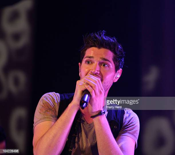 Danny O'Donoghue of The Script performs on stage at Portsmouth Guildhall on September 17 2010 in Portsmouth England