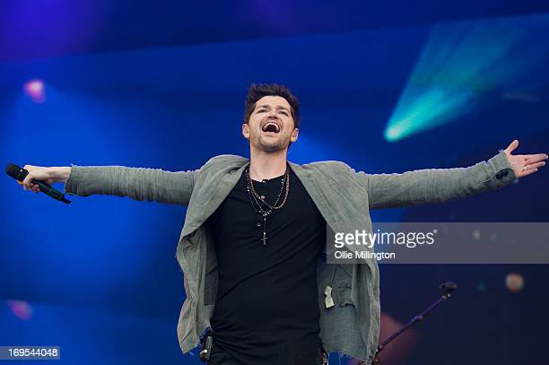 Danny O'Donoghue of The Script performs on stage on Day 3 of Radio 1's Big Weekend Festival on May 26 2013 in Londonderry Northern Ireland