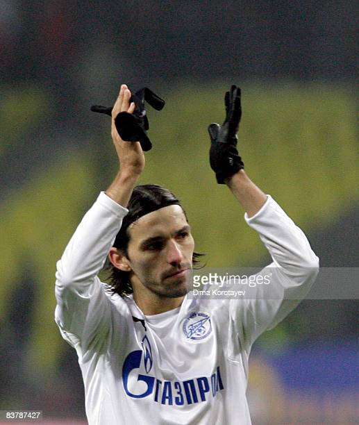 Danny of FC Zenit Saint Petersburg celebrates their victory in the the Russian Football League Championship match between FC Spartak Moscow and FC...
