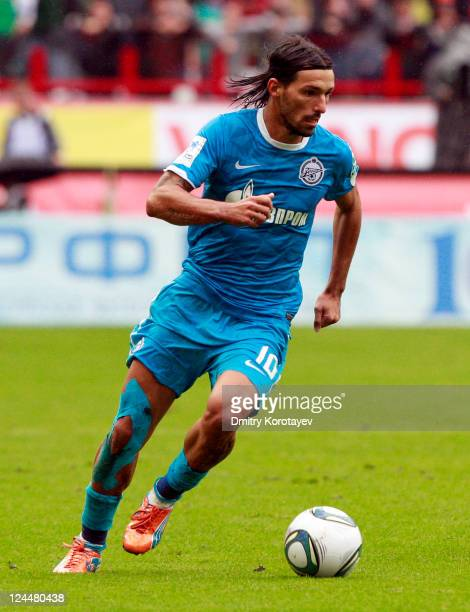 Danny of FC Zenit St Petersburg in action during the Russian Premier League match between FC Lokomotiv Moscow and FC Zenit St Petersburg at the...