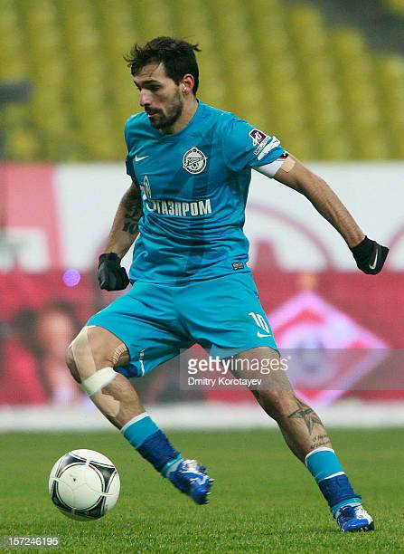 Danny of FC Zenit St Petersburg in action during the Russian Premier League match between FC Spartak Moscow and FC Zenit St Petersburg at the...