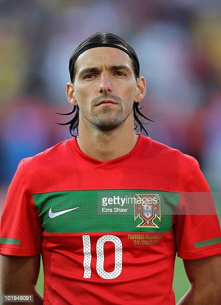 Danny of Portugal stands for the national anthem before their international friendly match against Mozambique at Wanderers Stadium on June 8 2010 in...