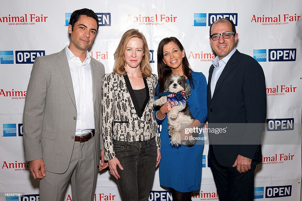 <a gi-track='captionPersonalityLinkClicked' href=/galleries/search?phrase=Danny+Pino&family=editorial&specificpeople=240258 ng-click='$event.stopPropagation()'>Danny Pino</a>, Amy Hargreaves, <a gi-track='captionPersonalityLinkClicked' href=/galleries/search?phrase=Wendy+Diamond&family=editorial&specificpeople=663985 ng-click='$event.stopPropagation()'>Wendy Diamond</a>, and <a gi-track='captionPersonalityLinkClicked' href=/galleries/search?phrase=Jack+Hidary&family=editorial&specificpeople=5679988 ng-click='$event.stopPropagation()'>Jack Hidary</a> attend the 'Animalfair.com's Bark Business Tour Benefiting K9s For Warriors at the Omni Berkshire Place Hotel on September 30, 2013 in New York City.
