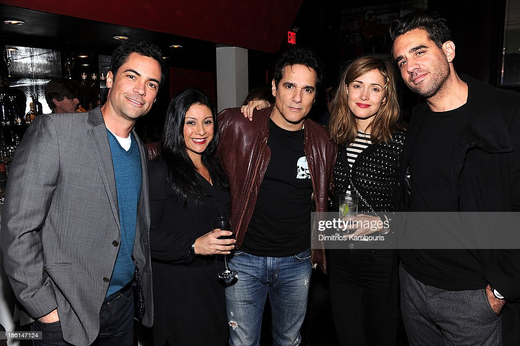 <a gi-track='captionPersonalityLinkClicked' href=/galleries/search?phrase=Danny+Pino&family=editorial&specificpeople=240258 ng-click='$event.stopPropagation()'>Danny Pino</a>, Lily Pino, <a gi-track='captionPersonalityLinkClicked' href=/galleries/search?phrase=Yul+Vazquez&family=editorial&specificpeople=2491110 ng-click='$event.stopPropagation()'>Yul Vazquez</a>, <a gi-track='captionPersonalityLinkClicked' href=/galleries/search?phrase=Rose+Byrne&family=editorial&specificpeople=206670 ng-click='$event.stopPropagation()'>Rose Byrne</a>, and <a gi-track='captionPersonalityLinkClicked' href=/galleries/search?phrase=Bobby+Cannavale&family=editorial&specificpeople=211166 ng-click='$event.stopPropagation()'>Bobby Cannavale</a> attend LAByrinth Theater Company Celebrity Charades 2013 Benefit Gala on October 28, 2013 in New York City.