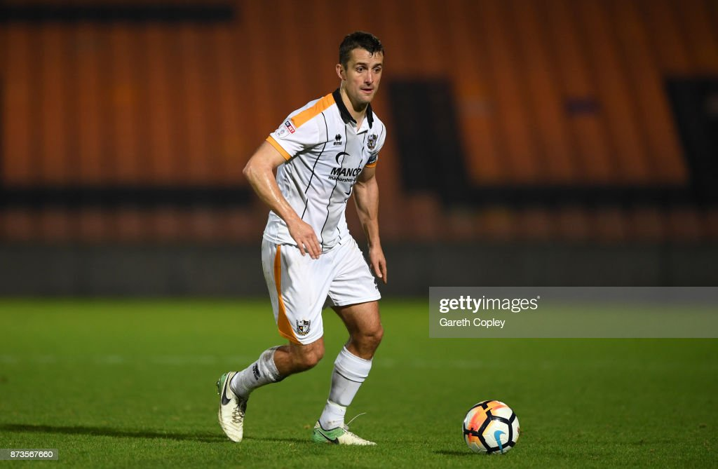 Danny Pugh of Port Vale during The Emirates FA Cup First Round match between Port Vale and Oxford United at Vale Park on November 3, 2017 in Burslem, England.