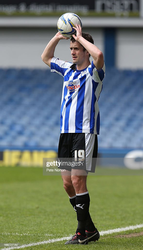<a gi-track='captionPersonalityLinkClicked' href=/galleries/search?phrase=Danny+Pugh&family=editorial&specificpeople=224078 ng-click='$event.stopPropagation()'>Danny Pugh</a> of Sheffield Wednesday in action during the npower Championship match between Sheffield Wednesday and Middlesbrough at Hillsborough Stadium on May 4, 2013 in Sheffield, England.