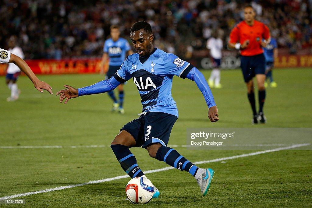 Danny Rose of Tottenham Hotspur controls the ball against the MLS AllStars during the 2015 ATT Major League Soccer AllStar game at Dick's Sporting...