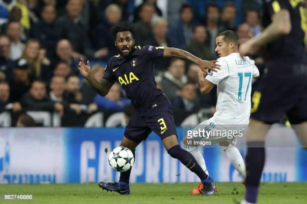 Danny Rose of Tottenham Hotspur FC Lucas Vazquez of Real Madrid during the UEFA Champions League group H match between Real Madrid and Tottenham...