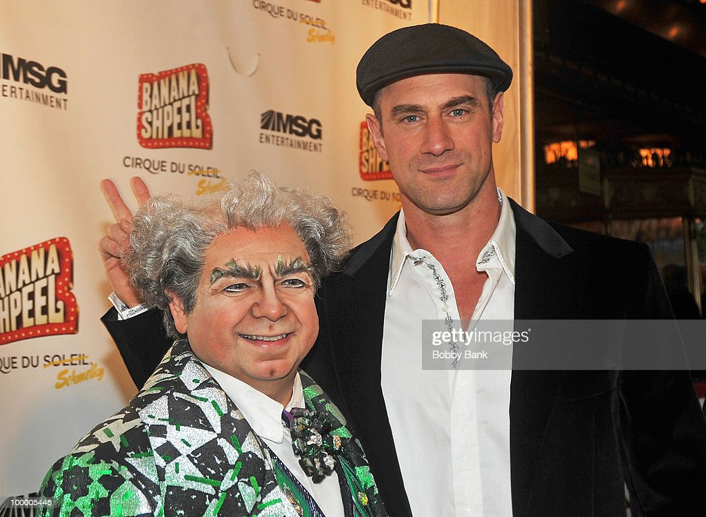 Danny Rutigliano and Christopher Meloni attend the opening night of Cirque du Soleil's 'Banana Shpeel' at the Beacon Theatre on May 19, 2010 in New York City.