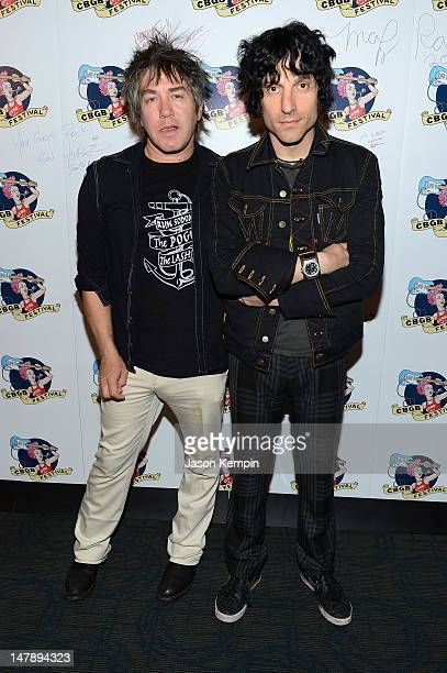 Danny Sage and Jesse Malin of D Generation attend 2012 CBGB Festival Film Premieres on July 5 2012 in New York City