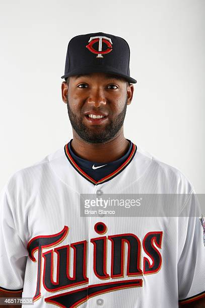 Danny Santana of the Minnesota Twins poses for a photo on March 3 2015 at Hammond Stadium in Fort Myers Florida
