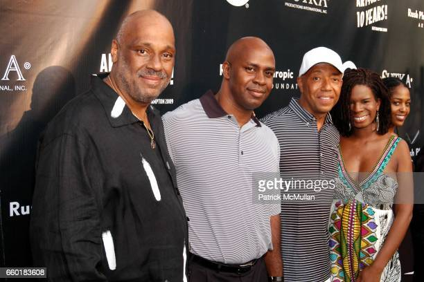 Danny Simmons Guest Russell Simmons and Tangie Murray attend RUSSELL SIMMONS Celebrates the 10th Anniversary of ART FOR LIFE at Private Residance on...