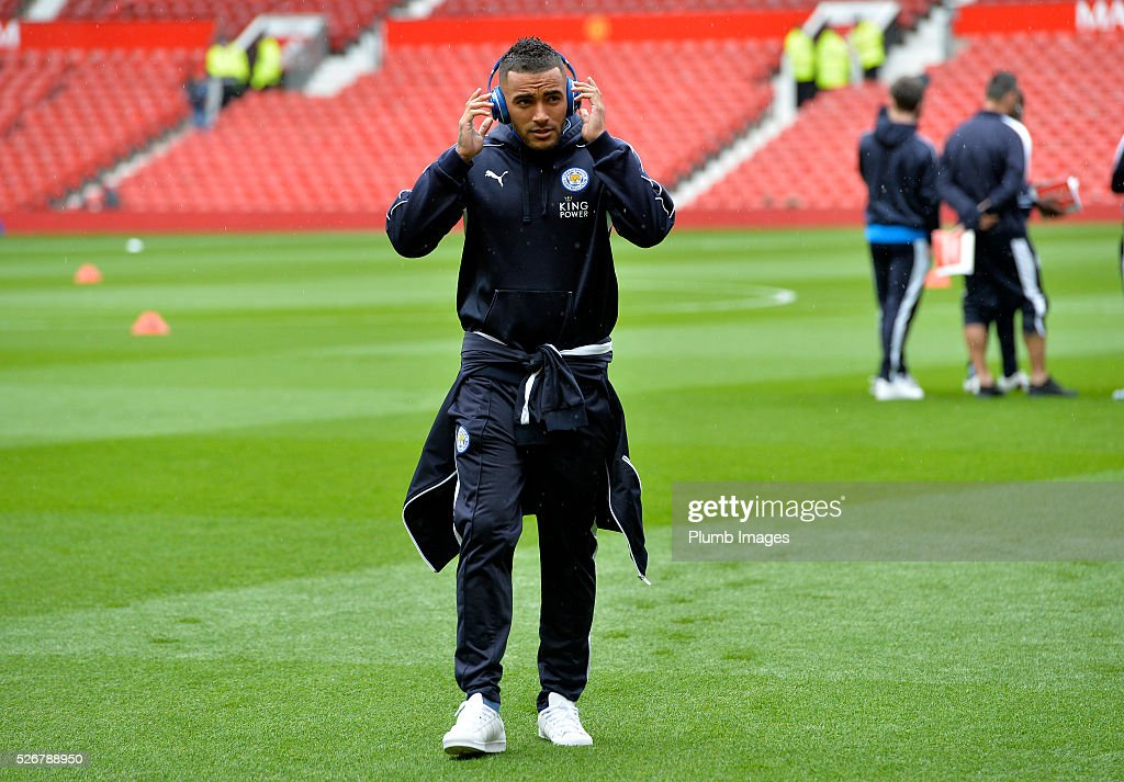 Danny Simoson of Leicester City at Old Trafford ahead of the Premier League match between Manchester United and Leicester City at Old Trafford on May 01, 2016 in Manchester, United Kingdom.