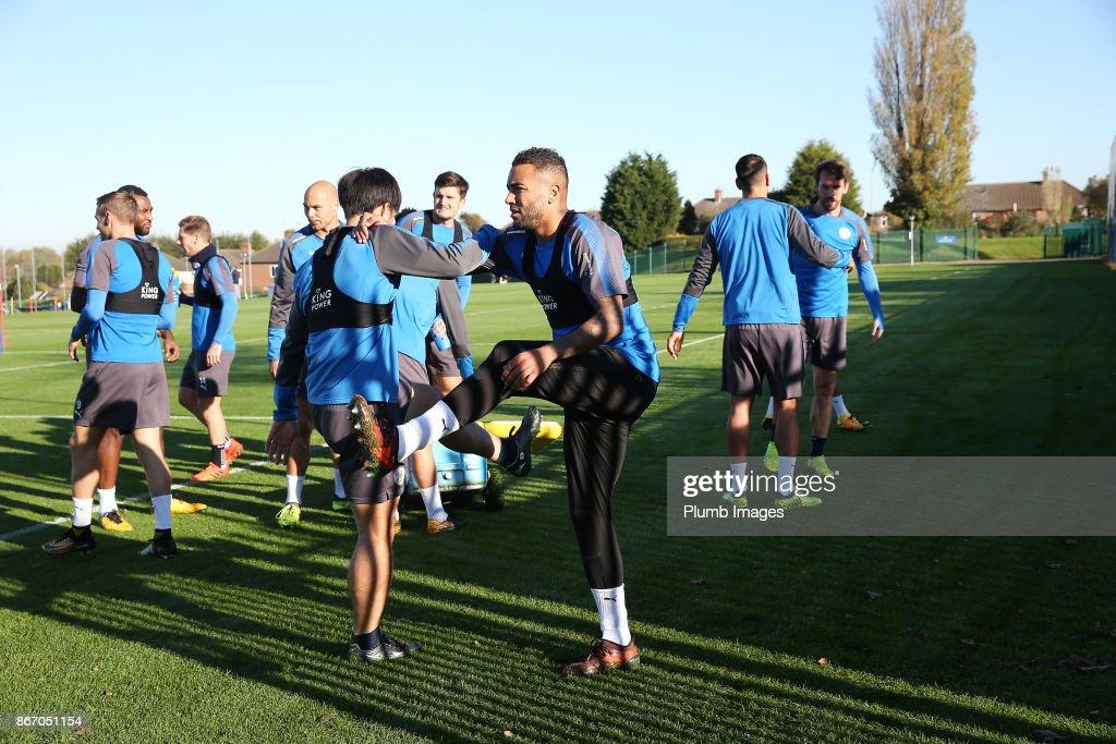 Leicester treinando