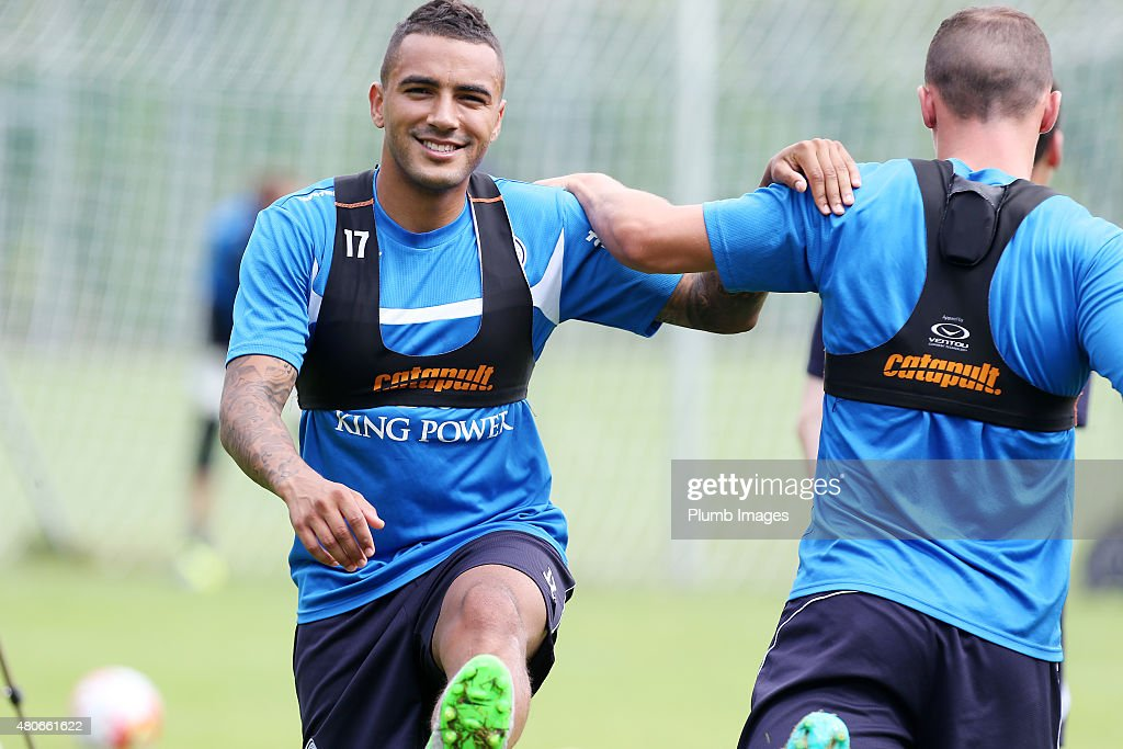 Danny Simpson during the Leicester City training session at their pre-season training camp on July 14, 2015 in Spielfeld, Austria.