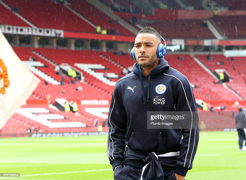 <a gi-track='captionPersonalityLinkClicked' href=/galleries/search?phrase=Danny+Simpson&family=editorial&specificpeople=803074 ng-click='$event.stopPropagation()'>Danny Simpson</a> of Leicester City at Old Trafford ahead of the Premier League match between Manchester United and Leicester City at Old Trafford on May 01, 2016 in Manchester, United Kingdom.