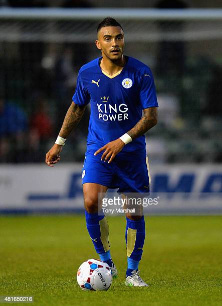 Danny Simpson of Leicester City during the Pre Season Friendlly match between Lincoln City and Leicester City at Sincil Bank Stadium on July 21 2015...