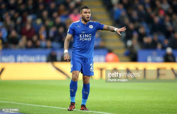 Danny Simpson of Leicester City during the Premier League match between Leicester City and Manchester City at The King Power Stadium on November 18...