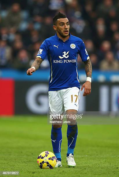 Danny Simpson of Leicester City in action during the Barclays Premier League match between Leicester City and Crystal Palace at the King Power...