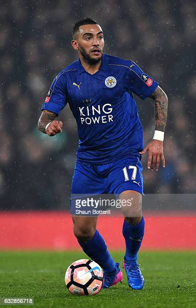 Danny Simpson of Leicester City in action during The Emirates FA Cup Fourth Round match between Derby County and Leicester City at iPro Stadium on...