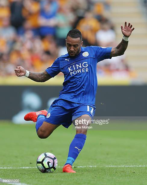 Danny Simpson of Leicester during the Premier League match between Hull City and Leicester City at KC Stadium on August 13 2016 in Hull England