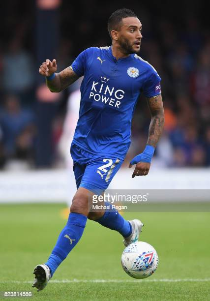 Danny Simpson of Leicester in action during the preseason friendly match between Luton Town and Leicester City at Kenilworth Road on July 26 2017 in...
