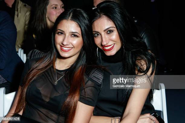 Danny Sophia and RoMina attended the Jeffrey Fashion Cares show at Intrepid SeaAirSpace Museum on April 3 2017 in New York City