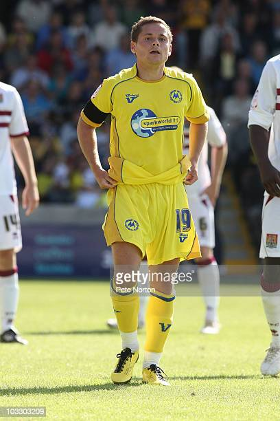Danny Stevens of Torquay United during the npower League Two match between Torquay United and Northampton Town held at Plainmoor on August 7 2010 in...