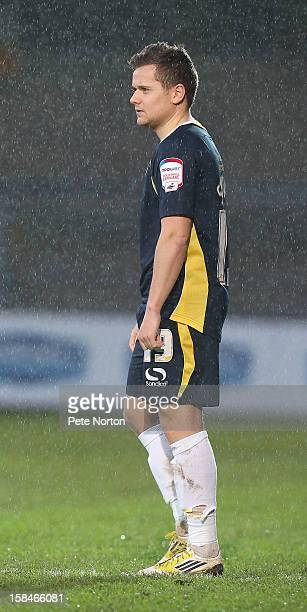 Danny Stevens of Torquay United in action during the npower League Two match between Torquay United and Northampton Town at Plainmoor on December 15...