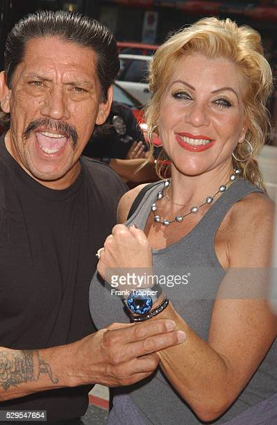 Danny Trejo and wife Debbie arriving at the premiere of 'Spy Kids 2 The Island of Lost Dreams'