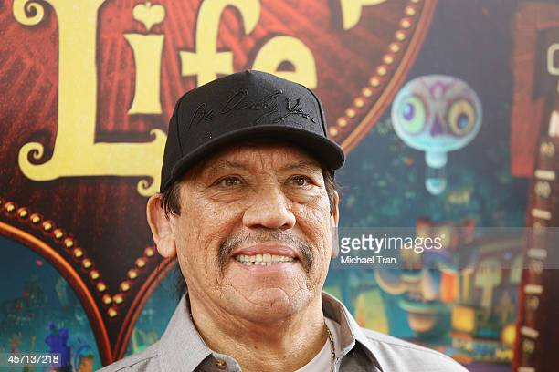 Danny Trejo arrives at the Los Angeles premiere of 'Book Of Life' held at Regal Cinemas LA Live on October 12 2014 in Los Angeles California