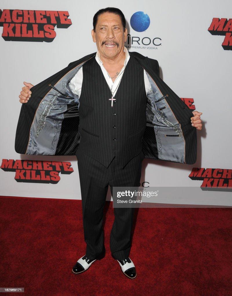 Danny Trejo arrives at the 'Machete Kills' - Los Angeles Premiere at Regal Cinemas L.A. Live on October 2, 2013 in Los Angeles, California.