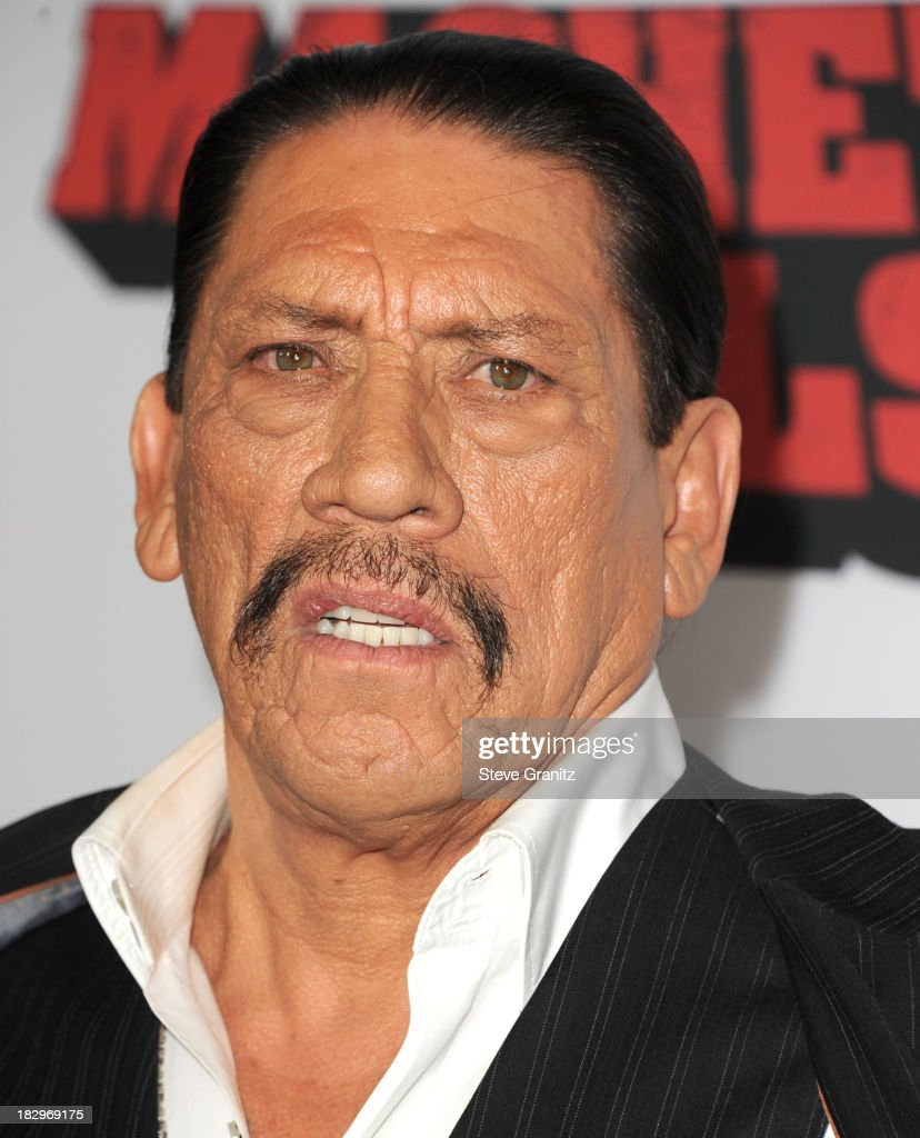 <a gi-track='captionPersonalityLinkClicked' href=/galleries/search?phrase=Danny+Trejo&family=editorial&specificpeople=2187220 ng-click='$event.stopPropagation()'>Danny Trejo</a> arrives at the 'Machete Kills' - Los Angeles Premiere at Regal Cinemas L.A. Live on October 2, 2013 in Los Angeles, California.
