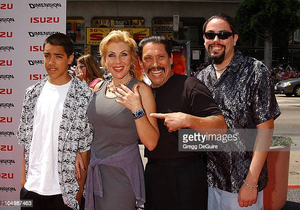 Danny Trejo wife Debbie and sons Gilbert Danny during 'Spy Kids 2 The Island Of Lost Dreams' Premiere at Grauman's Chinese Theatre in Hollywood...