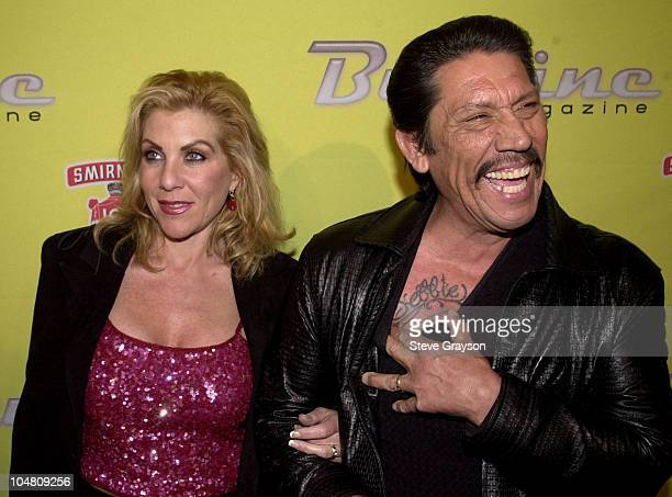 Danny Trejo wife Debbie during Buzzine Magazine Launch Party at Deep Club in Hollywood California United States